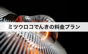 ミツウロコでんきの料金プラン|東京電力に比べて安いの?