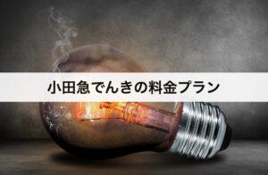 小田急でんきの料金プラン|東京電力に比べて安いの?