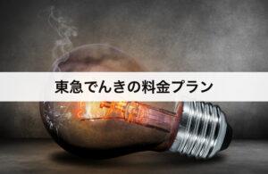 東急でんき(東急パワーサプライ)料金プラン|東京電力との比較表