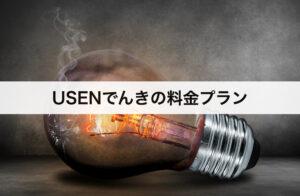 USENでんき料金プラン|大手電力会社と比較!