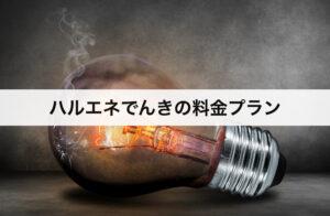 ハルエネでんきの料金プラン|大手電力会社に比べて安いの?