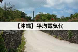 沖縄県】平均電気代|一人暮らしからファミリー層