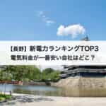 【長野県】新電力会社おすすめランキングTOP3|電気料金が一番安い会社はどこ?