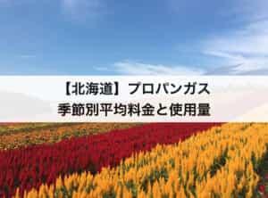 【北海道】プロパンガス(LPガス)の季節別平均料金と平均使用量