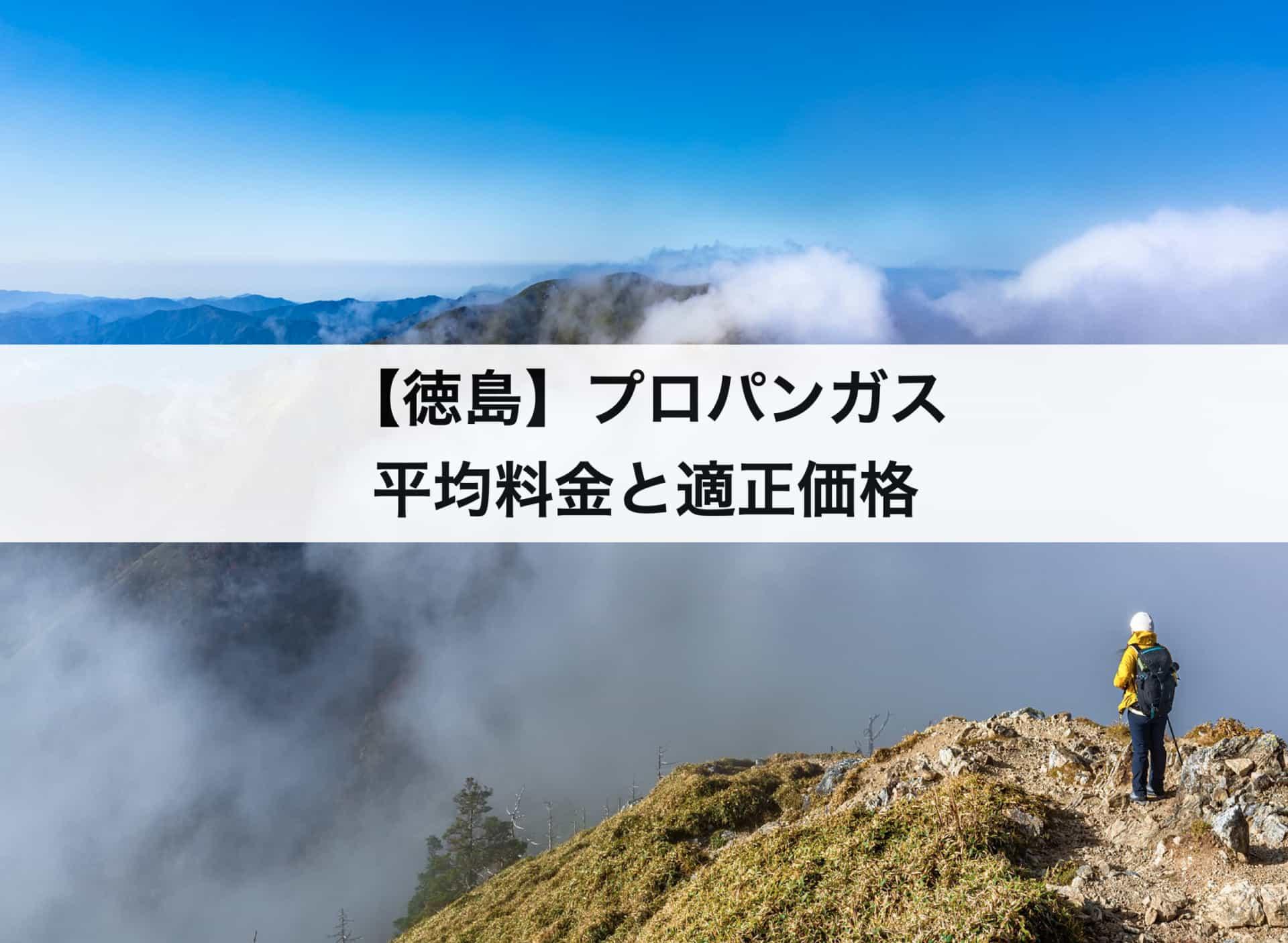 【徳島】プロパンガス(LPガス)の平均料金と適正価格|安く利用できるガス会社は?