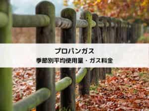 【長崎】プロパンガス(LPガス)の季節別平均使用量とガス料金