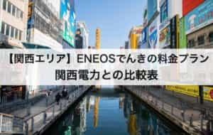 【関西エリア】ENEOSでんきの料金プラン|関西電力との比較表