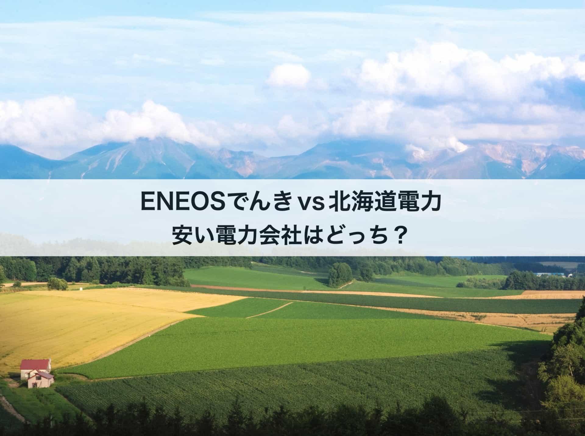 北海道電力とENEOSでんきの料金を徹底比較|評判が良くて安いのはどっち?