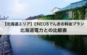 【北海道】ENEOSでんきの料金プラン|北海道電力との比較表