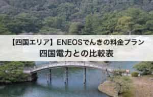 【四国エリア】ENEOSでんきの料金プラン|四国電力との比較表