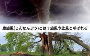 塵旋風(じんせんぷう)とは?旋風や辻風と呼ばれる