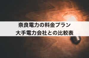 奈良電力の料金プラン|大手電力と比較して安い?