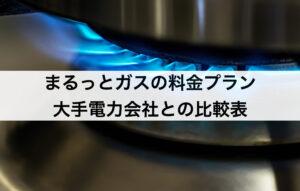 まるっとガスの料金プラン 大手ガスと比較して安い?